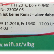 Verkaufen ist keine Kunst - aber dabei verdienen. WIFI Vorarlberg, Impuls-Seminar, Alexander Muxel