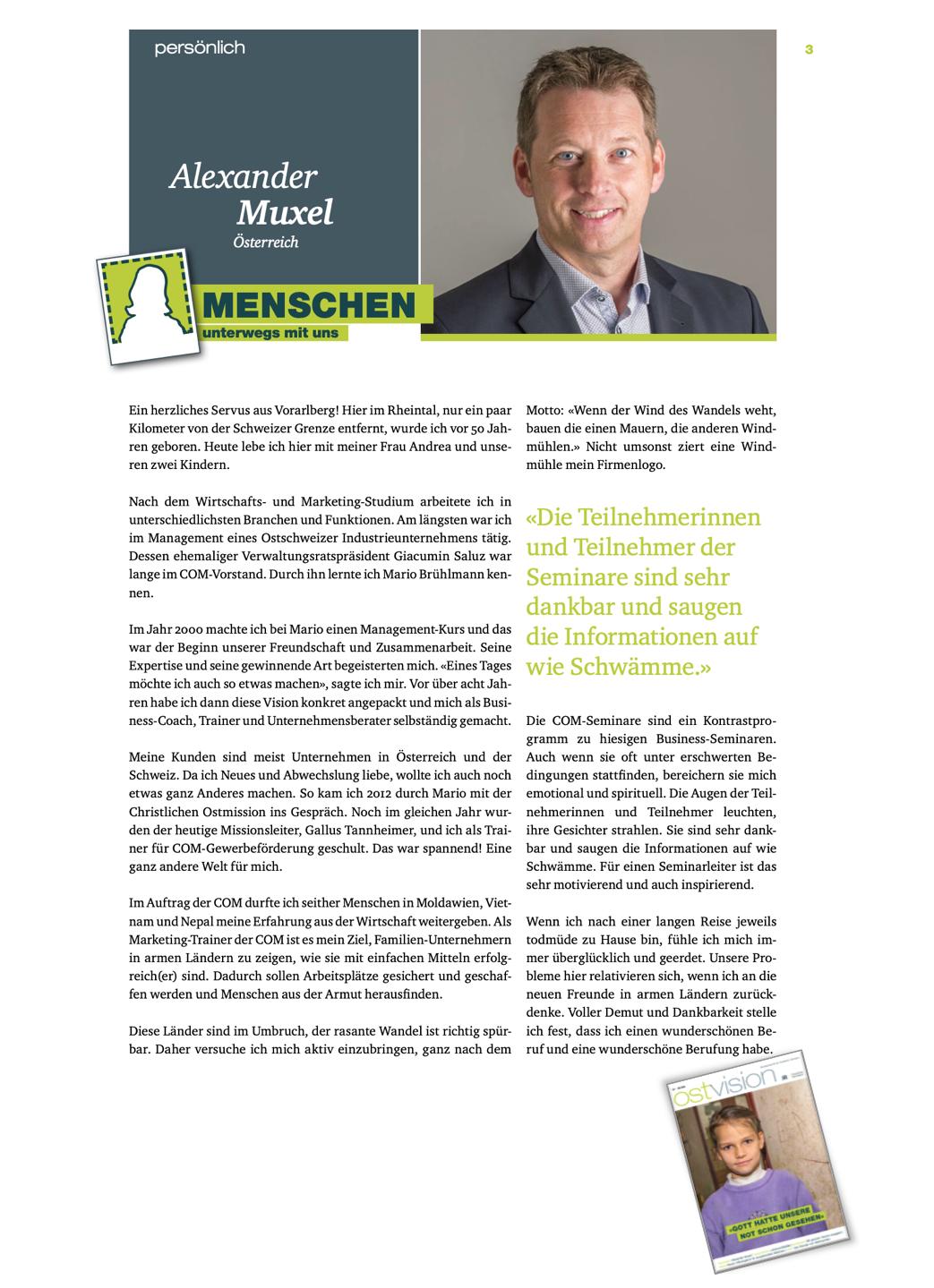 Ostvision COM Christliche Ostmission Alexander Muxel Dezember 2019 Trainer Marketing Nonprofit Gewerbefoerderung Hilfe zur Selbsthilfe